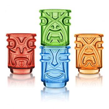 Tiki Shotglas Färgade 4-Pack