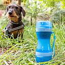 Kombinerad Vattenflaska och Matbehållare för Hunden