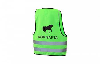 Reflexväst Häst Kör Sakta