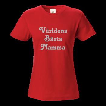 T-shirt Världens Bästa Mamma  Röd