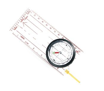 Lång orienteringskompass