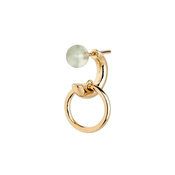 Maria Black Elvira Green earring - gold HP