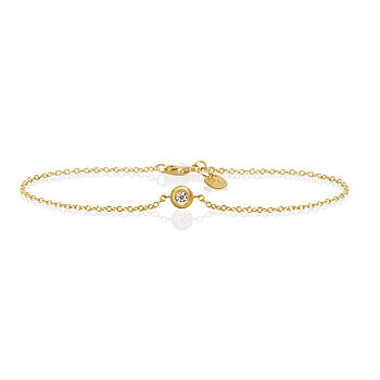 Dulong Balloon armband mini 18k guld m. 1 brillant 0,04 ct. D/F vvs/vs