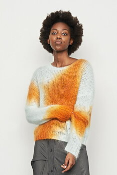 RABENS SALONER SOFT BLEND BOXY SWEATER