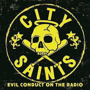 City Saints - Evil Conduct on the Radio - EP (Gul/Svart Marbled)