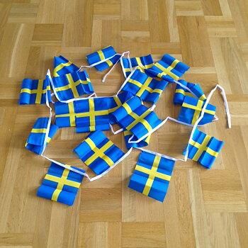 Flaggspel - Sverige i tyg