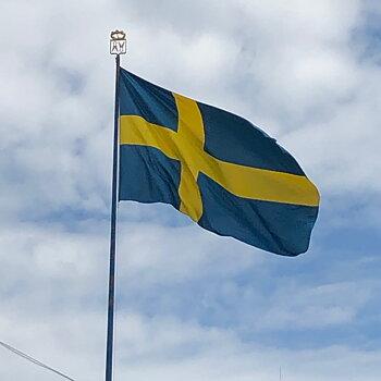 300 cm Flagga Sverige