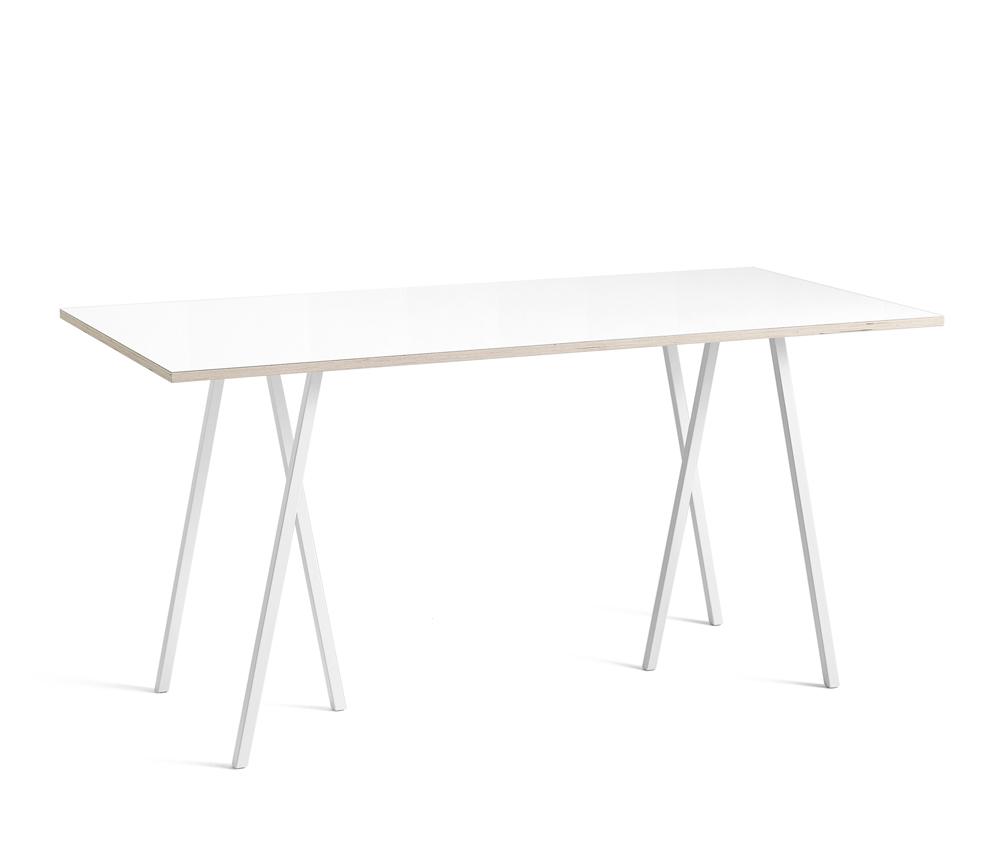Loop Stand Table Matbord Vitt – Miljögårdens Möbler