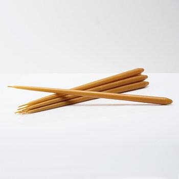 STOFF Nagel konformade ljus by ester & erik 6-pack, amber