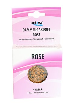 Dammsugaruppfräschare Rose 4-pack