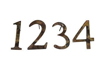 Adventssiffror 1-4 Metall