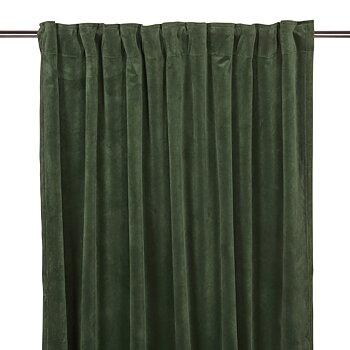 Sammetsgardin Grön