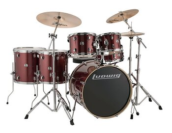 Ludwig Element Evolution 6-delars - Red Sparkle