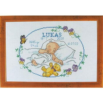 "Doptavla 30x30 cm ""Lukas"""
