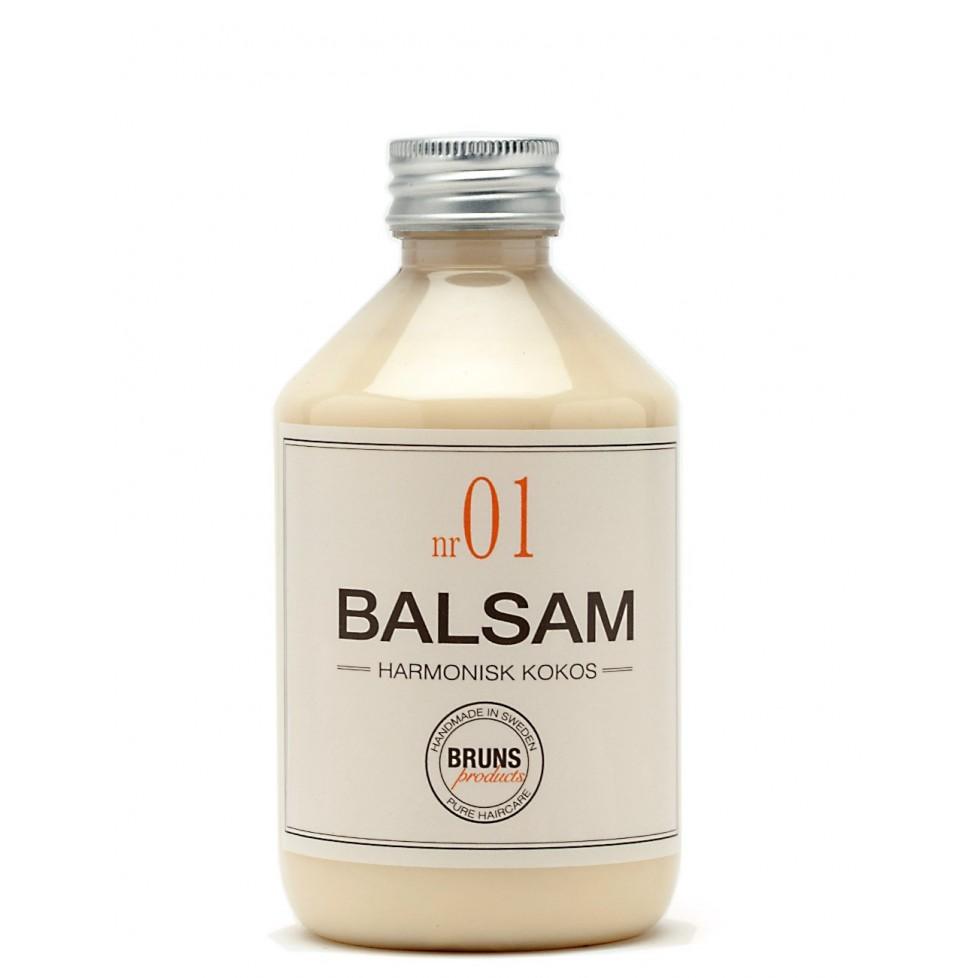 Bruns Products Balsam 01 Harmonisk Kokos 330ml - För torrt, normalt & tjockt hår samt balsammetoden