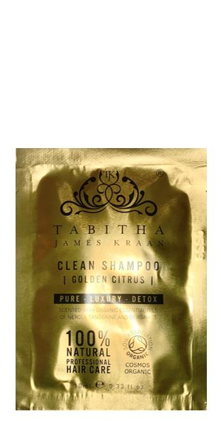 Tabitha James Kraan SACHET Clean Shampoo Golden Citrus