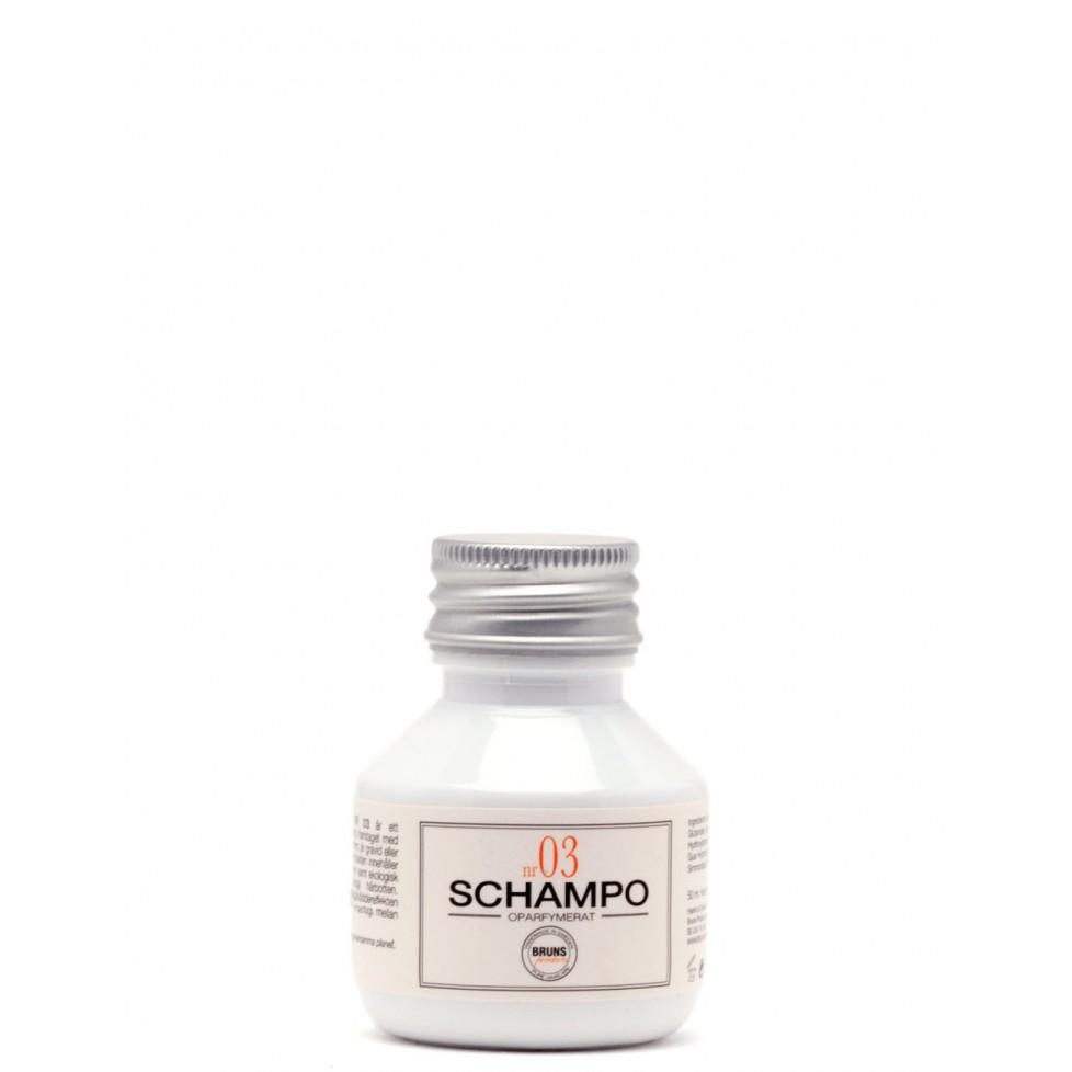 Bruns Products Schampo 03 Oparfymerat 50ml - För alla hårtyper & irriterad/känslig hårbotten