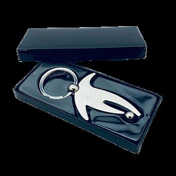 Nyckelring HNR105 Fotboll, 87x45 mm