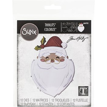 Sizzix Thinlits Dies By Tim Holtz 12/Pkg Santa's Wish Colorize