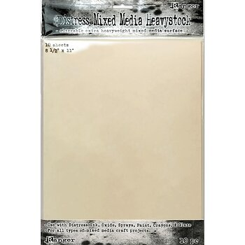 Tim Holtz Distress Mixed Media Heavystock 10/Pkg