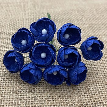 50 Royal Blue Mulberry Pappers Buttercups