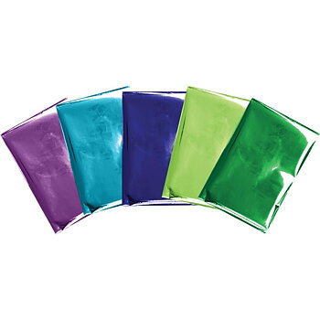 "We R Memory Keepers Foil Quill Foil Sheets 4""X6"" 30/Pkg - Peacock"