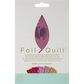 "We R Memory Keepers Foil Quill Foil Sheets 4""X6"" 30/Pkg - Flamingo"