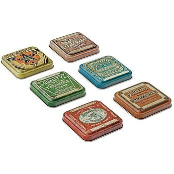 Idea-Ology Tin Tops 6/Pkg