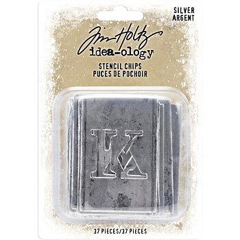 Idea-Ology Stencil Chips 37/Pkg Silver