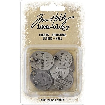 Idea-Ology Metal Typed Tokens 18/Pkg