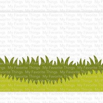 Slimline Grassy Edges Stencil