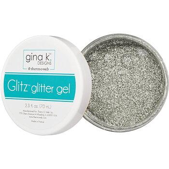 Gina K Designs Glitz Glitter Gel 2.3oz - Silver