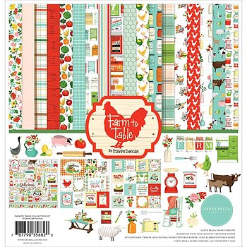 "Carta Bella Collection Kit 12""X12""Farm to Table"