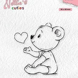 """Nellie's Cuties """"Love you mama"""" clear stamps"""
