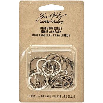 "Idea-Ology Metal Mini Book Rings .75"" 18/Pkg"