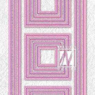 """Multi Frame Dies """"Slim lines-squares"""""""