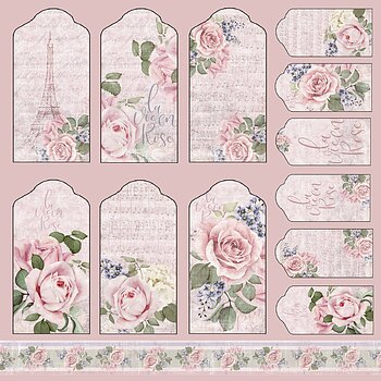 La Vie en Rose Collection -Tags