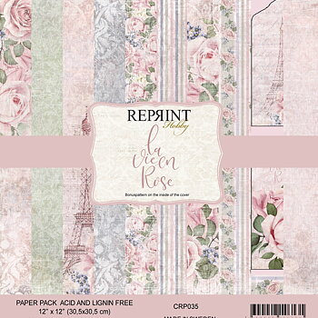 12x12  La Vie en Rose collection pack