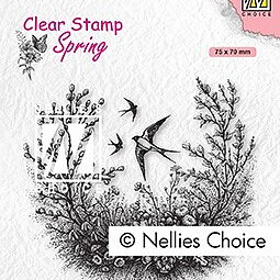 "Clear Stamps Spring ""spring is in the air"""
