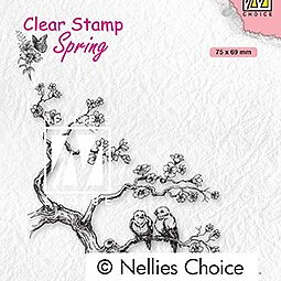 "Clear Stamps Spring ""spring lovers"""