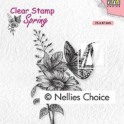 "Clear Stamps Spring ""butterfly"""