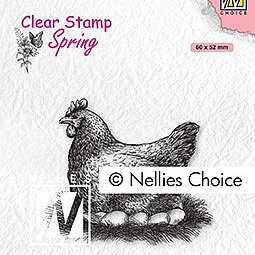 "Clear Stamps Spring ""mother hen"""