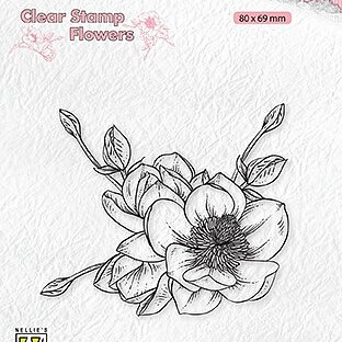 "Clear Stamps flowers ""magnolia flower"""