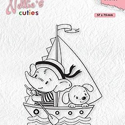 "Nellie's Cuties ""Young Sailors"" clear stamps"