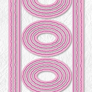 "Multi Frame Dies ""Slim lines-ovals"""