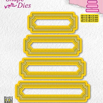 "Shape Dies ""set of 4 tags-5"""