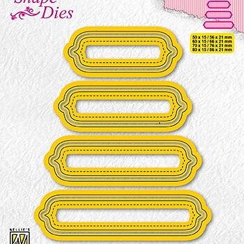 "Shape Dies ""set of 4 tags-6"""