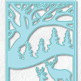 "Christmas scene dies ""Deer in forest"""