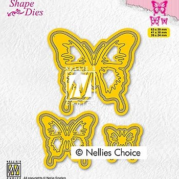 "Shape Dies ""3 Butterflies"""