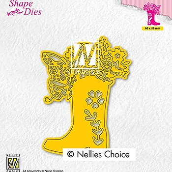 "Shape Dies ""Boot with flowers"""